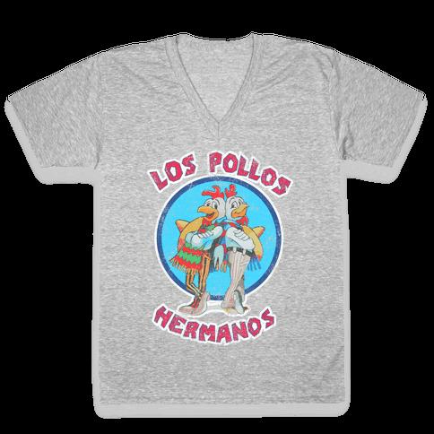 Los Pollos Hermanos (Vintage Shirt) V-Neck Tee Shirt