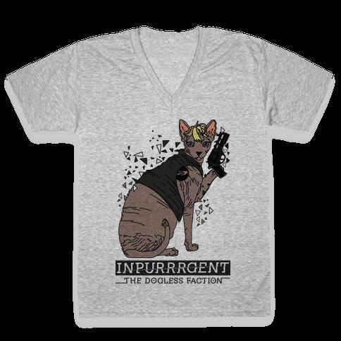 Inpurrrgent Cat V-Neck Tee Shirt
