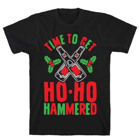 Time To Get Ho Ho Hammered Mens T-Shirt