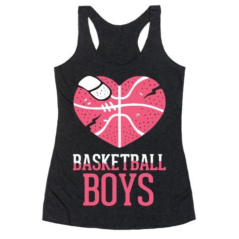 Basketball Boys Racerback Tank Top