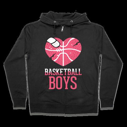 Basketball Boys Zip Hoodie