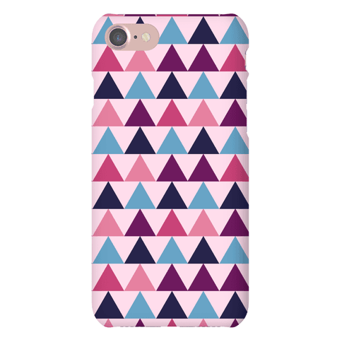 Triangle Pattern Case (Pink) Phone Case