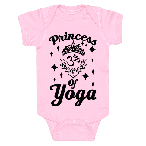 Princess Of Yoga Baby Onesy