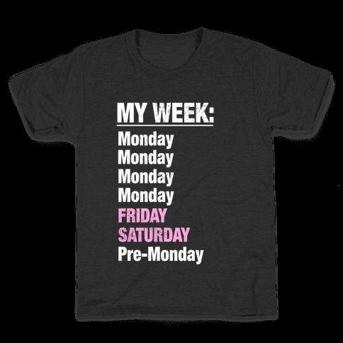 My Typical Week (tank) Kids T-Shirt