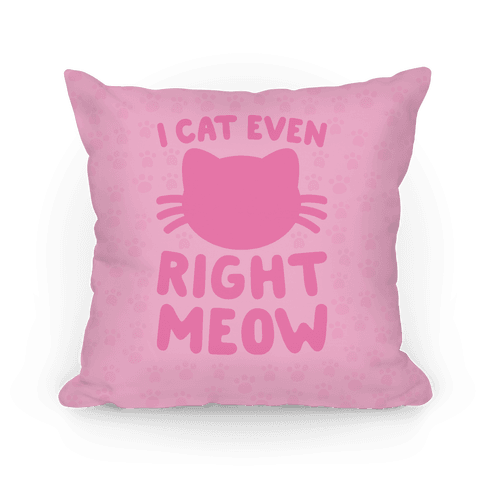 I Cat Even Right Meow Pillow