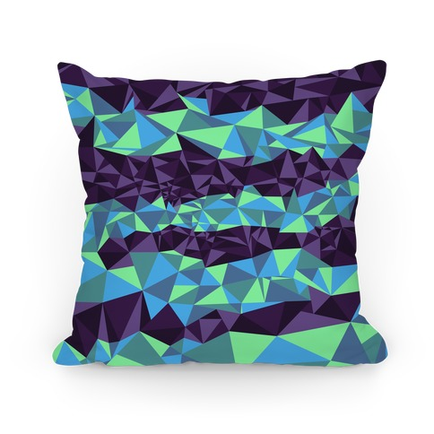 Geometric Northern Lights Pillow