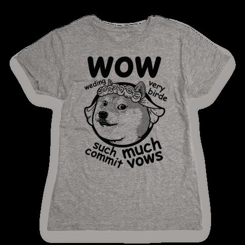 Wedding Doge Womens T-Shirt