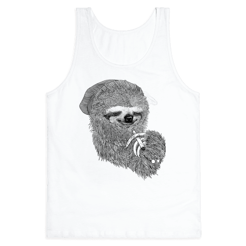 Dank Sloth (Black and White) Tank Top