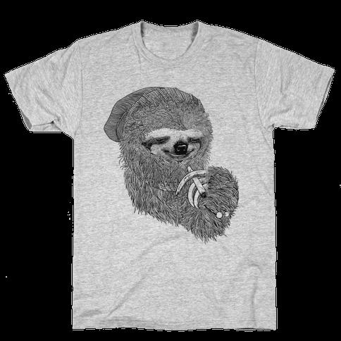 Dank Sloth (Black and White) Mens T-Shirt