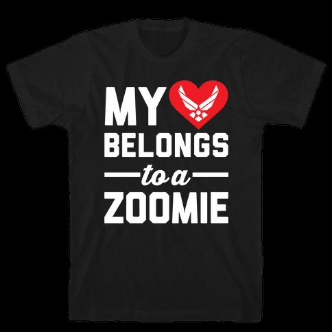 My Heart Belongs To A Zoomie Mens T-Shirt