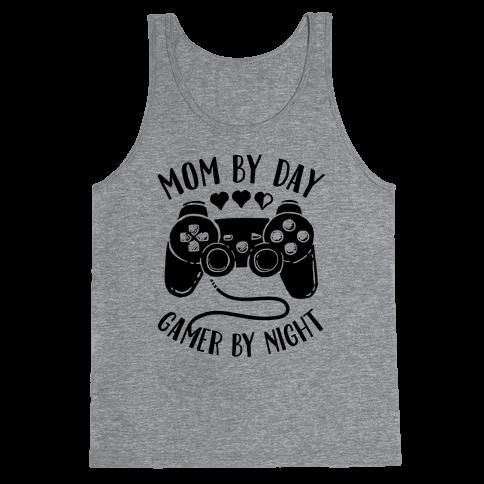 Mom By Day Gamer By Night Tank Top
