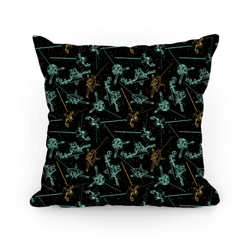 NASA Wanderlust Spacecrafts Pattern Pillow