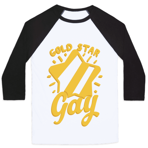 Gold Star Gay Baseball Tee