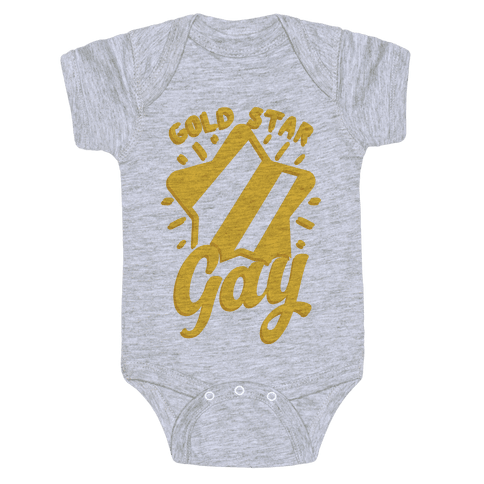 Gold Star Gay Baby Onesy
