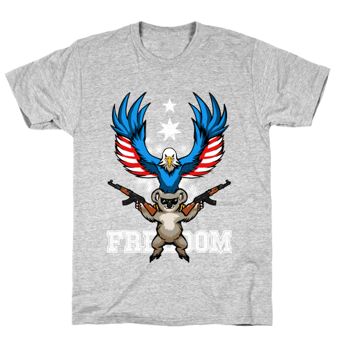 Ameristralia: TASTE THE FREEDOM (Text) Mens T-Shirt