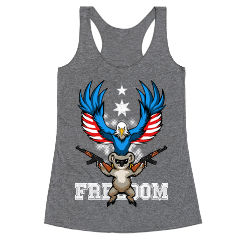 Ameristralia: TASTE THE FREEDOM (Text) Racerback Tank Top