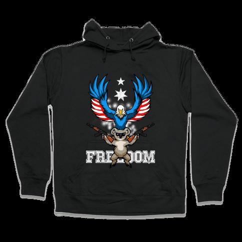 Ameristralia: TASTE THE FREEDOM (Text) Hooded Sweatshirt