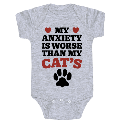 Cat Anxiety Baby Onesy