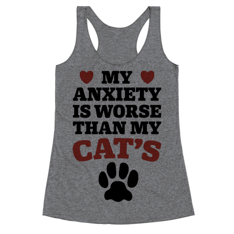 Cat Anxiety Racerback Tank Top