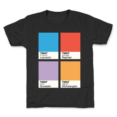 Ninja Color Swatch Parody Kids T-Shirt