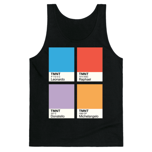 Ninja Color Swatch Parody Tank Top