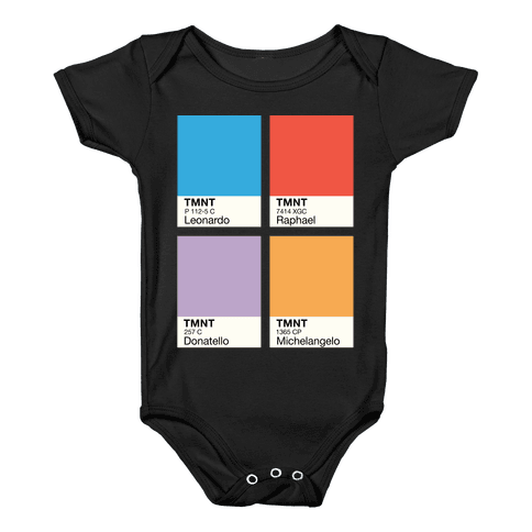 Ninja Color Swatch Parody Baby Onesy