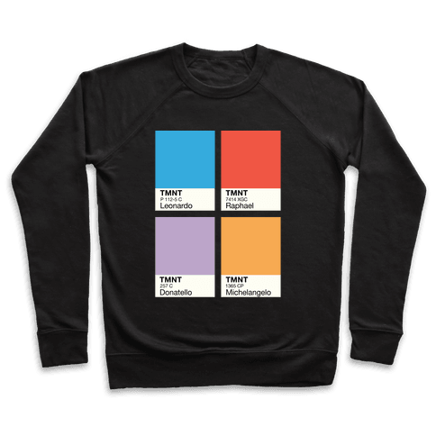 Ninja Color Swatch Parody Pullover