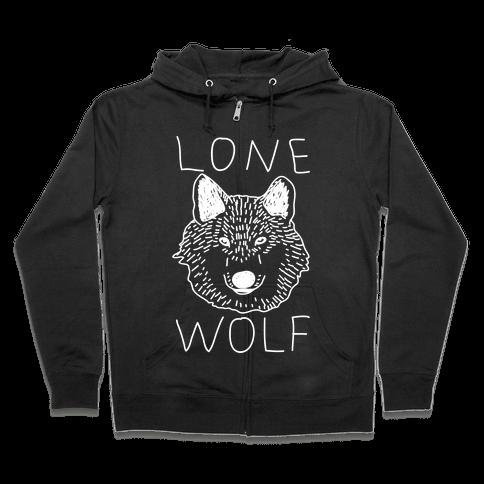 Lone Wolf Zip Hoodie