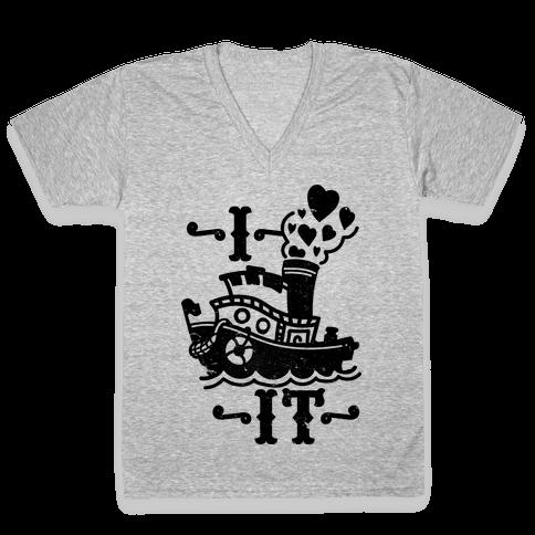 I Ship it V-Neck Tee Shirt