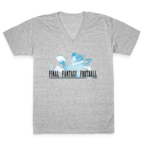 Final Fantasy Football V-Neck Tee Shirt