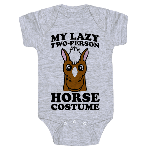 My Lazy Two-Person Horse Costume (head) Baby Onesy