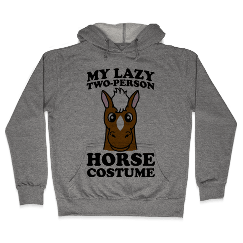 My Lazy Two-Person Horse Costume (head) Hooded Sweatshirt
