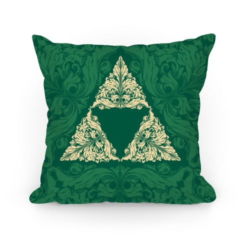 Floral Triforce Pillow