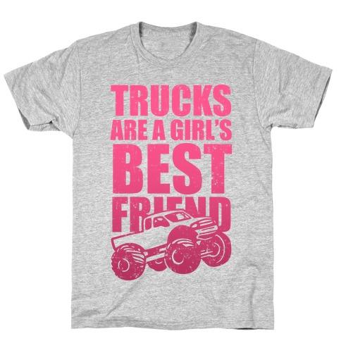 Trucks Are A Girl's Best Friend (Pink) T-Shirt
