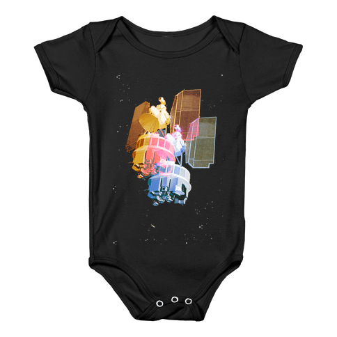 TriColor Space Satellite Baby Onesy