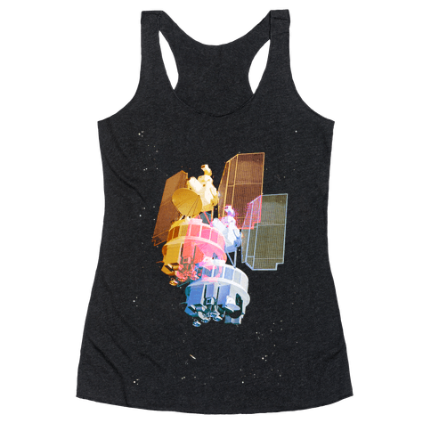 TriColor Space Satellite Racerback Tank Top