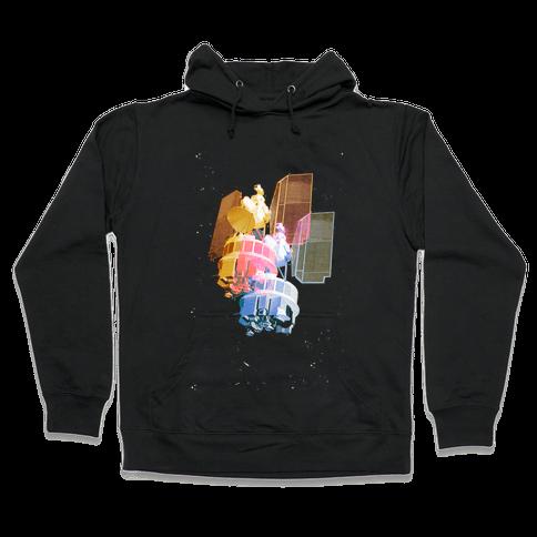 TriColor Space Satellite Hooded Sweatshirt
