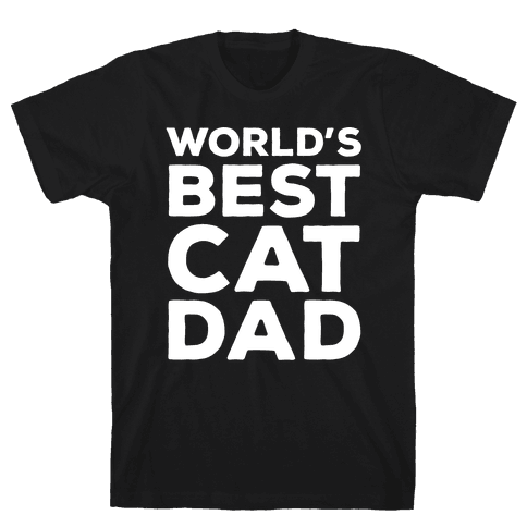 World's Best Cat Dad Mens T-Shirt