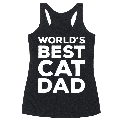 World's Best Cat Dad Racerback Tank Top