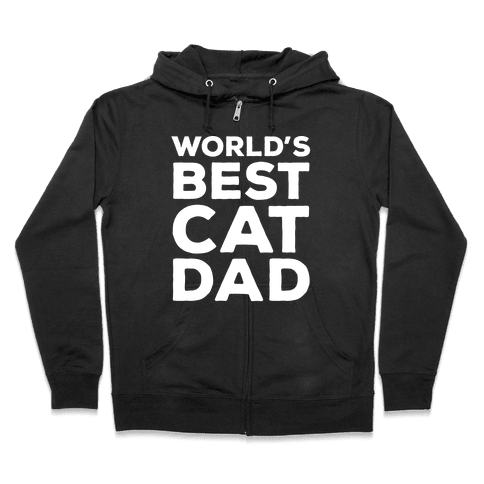 World's Best Cat Dad Zip Hoodie