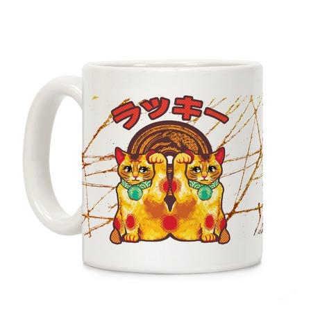 Lucky Cat Pop Art Coffee Mug