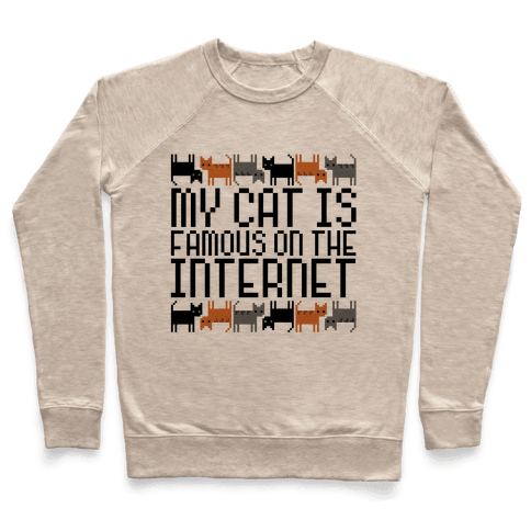 My Cat is Famous Pullover