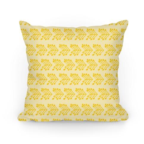 Yellow Cute Chevron Pattern Pillow