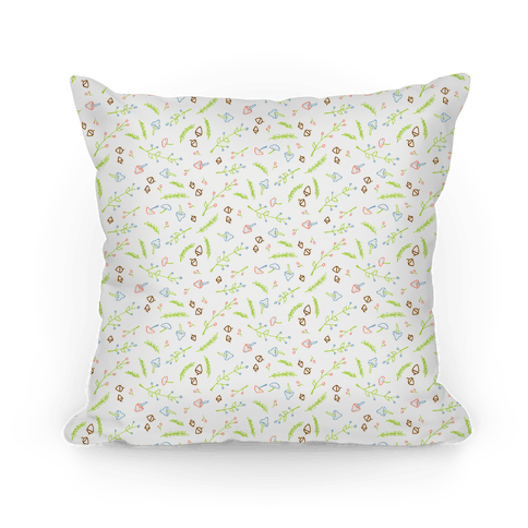 Pastel Floral Pattern Pillow