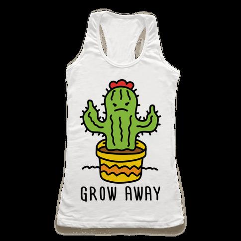 Grow Away Cactus Racerback Tank Top