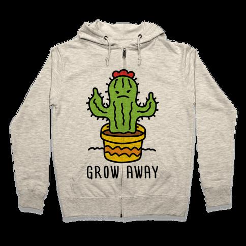 Grow Away Cactus Zip Hoodie