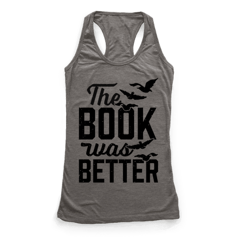 The Book Was Better (Divergent) Racerback Tank Top