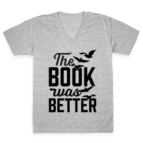 The Book Was Better (Divergent) V-Neck Tee Shirt