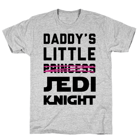 Daddy's Little Jedi Knight Mens T-Shirt