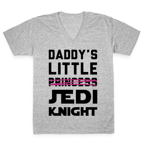 Daddy's Little Jedi Knight V-Neck Tee Shirt